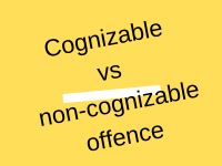 Difference between cognizable and non cognizable offence